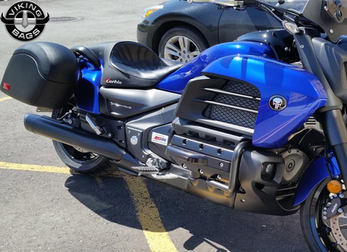 Andre S 14 Honda Valkyrie W Lamellar Hard Saddlebags