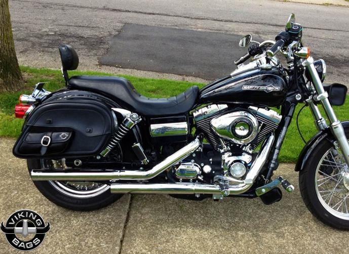 Harley Softail Fatboy Motorcycle Saddlebags Cross Bones Side Pocket