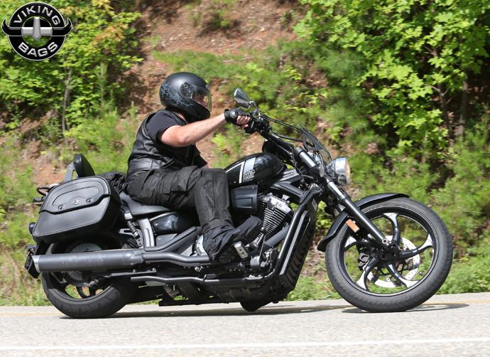 Honda 1100 shadow sabre motorcycle saddlebags large uni for Yamaha stryker saddlebags