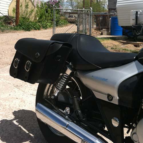 Kawasaki eliminator 125 saddlebags small thor series from for Yamaha raider hard saddlebags