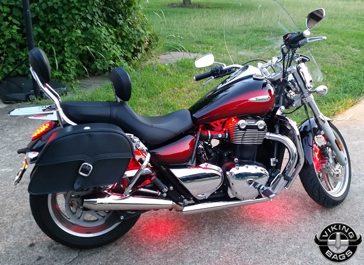 Triumph Thunderbird From Dallas Texas Area W Charger Single Strap Motorcycle Saddlebags