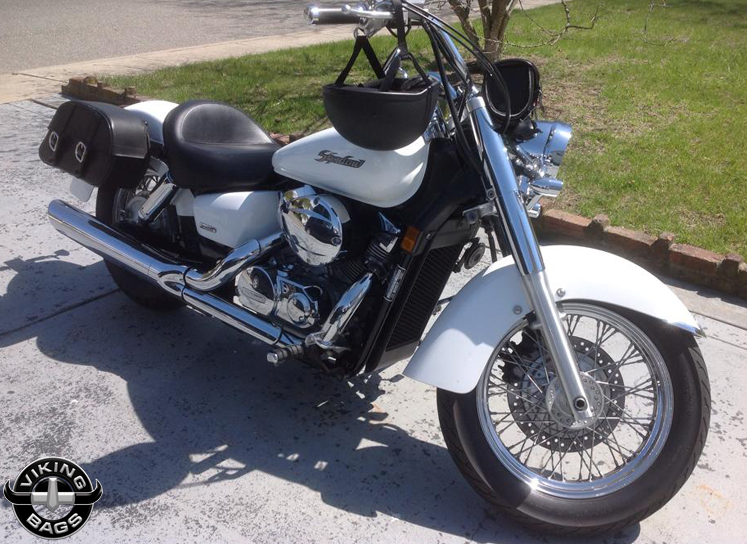 Vickie Wilson S 07 Honda Shadow Aero W Charger Motorcycle Saddlebags