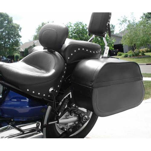 Harley softail deluxe flstn motorcycle saddlebags extra for Motor cycle saddle bags