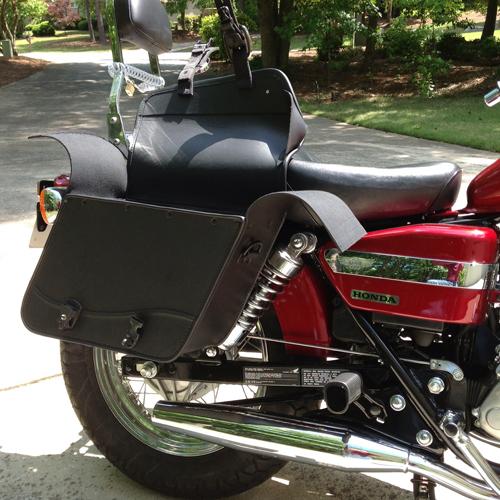 Honda cmx 250c rebel 250 motorcycle saddlebags small thor for Yamaha raider hard saddlebags