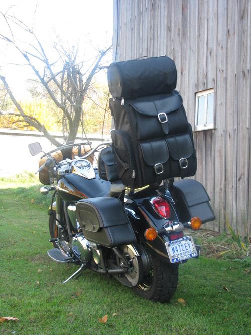 Motorcycle Tool Bag >> Viking Extra Large Plain Leather Motorcycle Sissy bar Bag