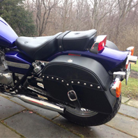03 Honda Rebel w/ Charger Motorcycle Saddlebags