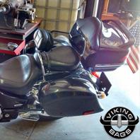 03 Honda VTX w/ Lamellar Motorcycle Hard Saddlebags