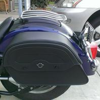 05 Yamaha V Star 1100 w/ Warrior Motorcycle Saddlebags