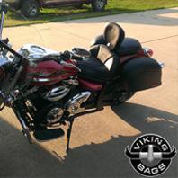 09 Yamaha V Star 950 w/ Lamellar Motorcycle Saddlebags