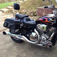 Andrew's 06 Honda VTX 1800 w/ Motorcycle Saddlebags