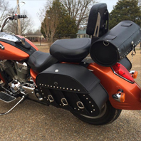 Anthony's 2002 Honda VTX1800R w/ Trianon Studded Leather Motorcycle Saddlebags