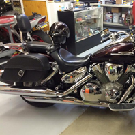 Bryan's '07 Honda VTX 1300 R w/ Charger Single Strap Motorcycle Saddlebags