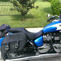 Elle's Triumph America w/ Charger Slanted Saddlebags
