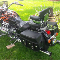 Larry's '03 Honda Valkyrie Standard w/ Silver Spoon Motorcycle Saddlebags