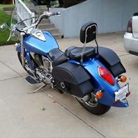Louis '07 Honda VTX 1300 R w/ Charger Single Strap Motorcycle Saddlebags