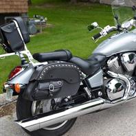 Phillip's Honda VTX 1800 w/ Side Pocket Motorcycle Saddlebags