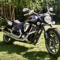 Randy's Yamaha Road Star Warrior w/ Prima Motorcycle Saddlebags