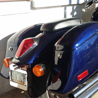 Robert's '07 Honda VTX 1300 w/ Custom Painted Lamellar Hard Saddlebags