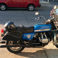 Roberto's '78 Honda Goldwing w/ Ultimate Shape Motorcycle Saddlebags