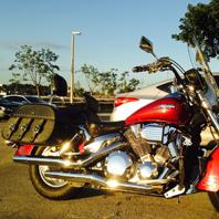 Scott's Honda VTX 1300 Retro w/ Trianon Motorcycle Saddlebags