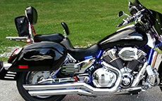 William Duke Sr's '05 Honda S VTX 1800 S w/ Lamellar Hard Saddlebags
