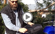 Gaston's Viking Bags Sport Tail Bag Review on Yamaha Motorcycle