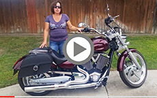 Lorie's 2008 Indian Low Charger Single Strap Motorcycle Bags Review