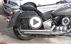 Mike Keeling's Charger Slant Motorcycle Yamaha Saddlebags Installation & Review On Yamaha