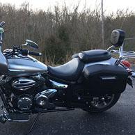 Brian's Yamaha V Star 950 w/ Hard Leather Covered Motorcycle Saddlebags