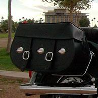 Carlos' Yamaha V Star 1100 w/ Silver Spoon Motorcycle Saddlebags