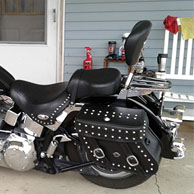 Charles' Harley-Davidson Softail Heritage w/ Concord Studded Leather Saddlebags