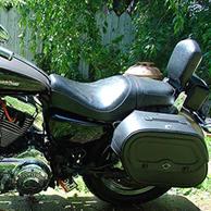 Douglas' '04 Harley-Davidson Sporster XL 1200 C w/ Leather Motorcycle Saddlebags