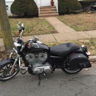 John's Harley-Davidson Sportster 883 Low w/ Side Pocket Motorcycle Saddlebags