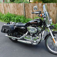 Mark's Harley Sportster Low 1200 w/ Charger Series Saddlebags