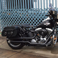 Melvyn's '10 Harley-Davidson Softail Fat Boy w/ Pinnacal Series Leather Motorcycle Saddlebags