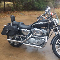 Michael's '02 Harley-Davidson Sportster Anniversary Edition w/ Leather Motorcycle Saddlebags