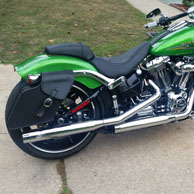 Ned's '15 Harley-Davidson Softail Breakout w/ Leather Solo Bags