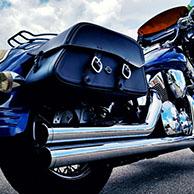 Tim's '05 Honda VTX 1300 S w/ Leather Motorcycle Saddlebags